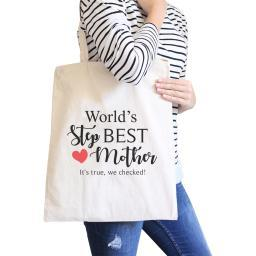 World's Best Stepmother Unique Design Canvas Bag Gifts For Stepmoms