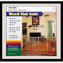 Four Paws Products FP57220 53-96 in. Gate Wood Vertical Slat