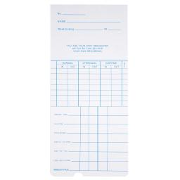 Yescom 1000 Count Weekly Time Clock Cards Timecard for Employee Attendance Payroll Recorder