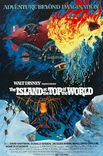 The Island At The Top Of The World Poster Art 1974. Movie Poster Masterprint