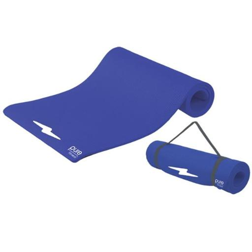Pure Global Brands 8624FMB Fitness Deluxe 12mm Exercise Mat - Iris