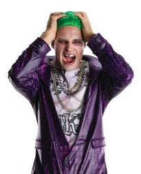 Joker Teeth Suicide Squad Jared Leto DC Villain Batman Cosplay Movie Costume