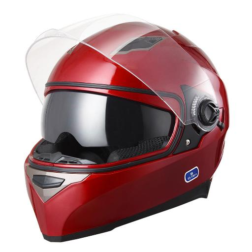 DOT Motorcycle Full Face Helmet Dual Visor Lightweight ABS Street Bike Touring