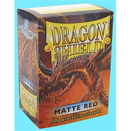 IDW Publishing FFGDSH106 100 Dragon Shield Matte Red Standard Protective Card Sleeves Deck Protector ZQDIEU2NZUUSQFDM