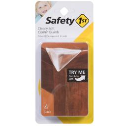 Safety 1st Clear Soft Rubber Corner Bumpers 4 pk - Case Of: 4;
