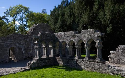 Cloisters in the Augustinian 12th Century Cong Abbey Cong, County Mayo, Ireland Poster Print
