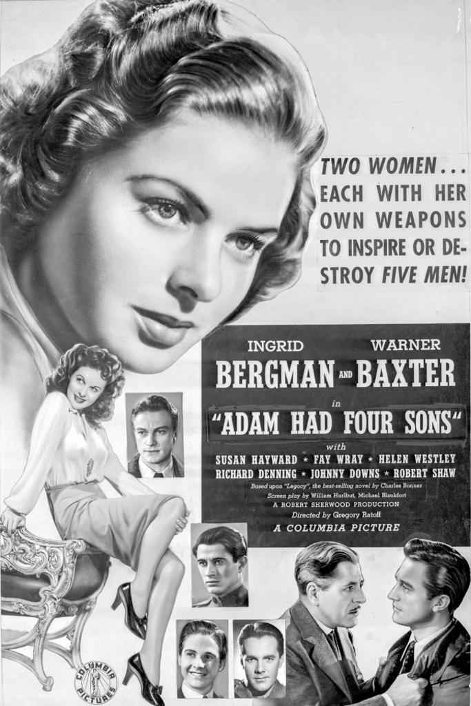 A Poster For Adam Had Four Sons Photo Print