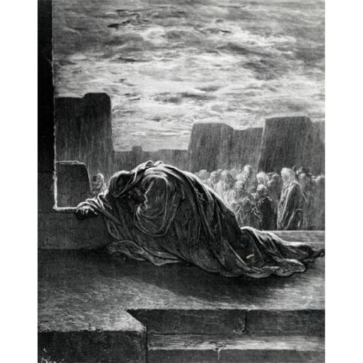 Posterazzi SAL995103139 Ezra Praying Gustave Dore 1832-1883 French Engraving 1832-1883 Poster Print - 18 x 24 in.