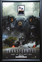 Transformers Age of Extinction - Cast Signed Movie Poster