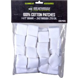 Breakthrough Cleaning Bt-cp-sqr-1-1/2 Breakthrough Cleaning Patches 1 1/2 Square .243-270 500 Pck
