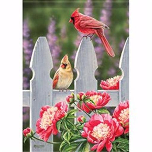 Carson Home Accents 171602 12.5 x 18 in. Cardinal Gate Garden Flag