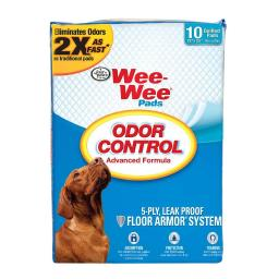 Four paws 100516249 white four paws wee-wee odor control pads 10 count white 22 x 23 x 0.1
