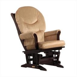Dutailier D00-61C-69-3091 Sleigh Glider GLIDE ONLY in Espresso and Light Brown