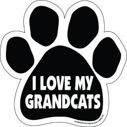 I Love My Grandcats Paw Magnet Dog Cat 5.5