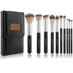 Shany Shany Black Ombre Pro 10 Pc Essential Brush Set With Travel Pouch Massgenie Com