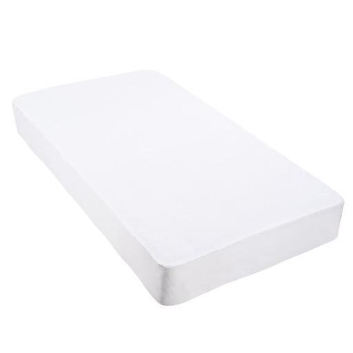 Yescom Cotton Terry Mattress Protector Waterproof Hypoallergenic Vinyl Free Anti Mite Dust Fitted Cover Full Home