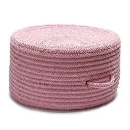 20 x 20 x 11 in. Solid Chenille Pouf, Pink