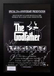 The Godfather 25th Anniversary Edition Movie Poster- Signed by Marlon Brando and Cast