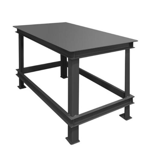 Durham HWBMT-364830-95 48 x 36 x 30 in. Steel Extra Heavy Duty Machine Table with 1 Shelves, Gray