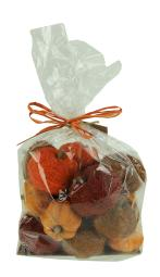 Bag of Orange Brown and Red Dried Botanical Decorative Pumpkins