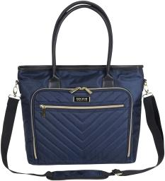 Kenneth Cole Reaction Chelsea Quilted Chevron 15 Laptop & Tablet Business Tote With Removeable Shoulder Strap, Navy