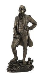 Bronzed President George Washington Standing Triumphantly Statue