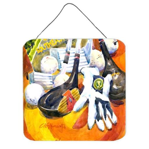 Carolines Treasures 6070DS66 Southeastern Golf Clubs With Glove And Balls Aluminium Metal Wall or Door Hanging Prints