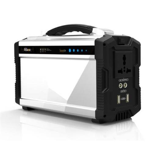 SereneLife SLSPGN30 Portable Power Generator - Rechargeable Battery Pack Power Supply, Solar Panel Compatible - 40,800mAh