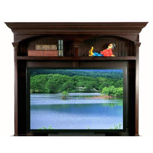 Eagle Furniture 11555NGAS-16057WPAS American Premiere 58 in. Entertainment Console & Hutch with 52 in. Opening, Autumn Sage