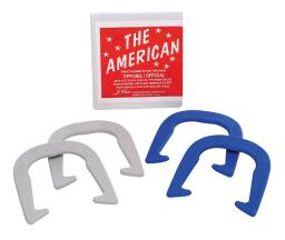 The American Official Size 10.5 Horseshoes - Case Of: 1; Each Pack Qty: 4; Total Items Qty: 4