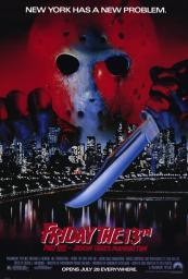 Friday the 13th, Part 8 Jason Takes Manhattan Movie Poster (11 x 17) MOVGD2861
