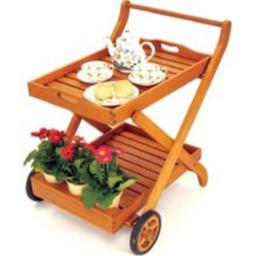 Achla OFS-01 Outdoor Serving Cart - Natural Oiled
