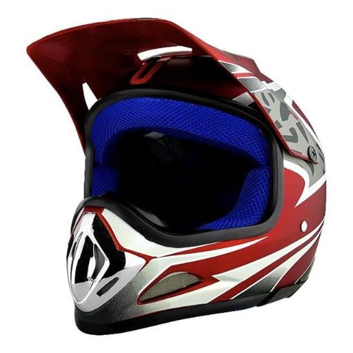 RS Helmets RS-8696-R-Ysmall Off Road Motocross Motorcycle Helmet Flat Red - Small R1EZP7XYTLH5OJFN