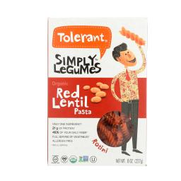 TOLERANT PASTA RED LENTIL ROTINI-8 OZ -Pack of 6