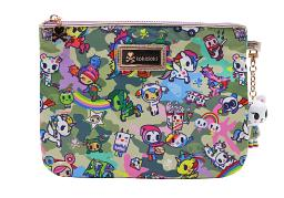 Tokidoki Camo Kawaii Zip Pouch Clutch Bag