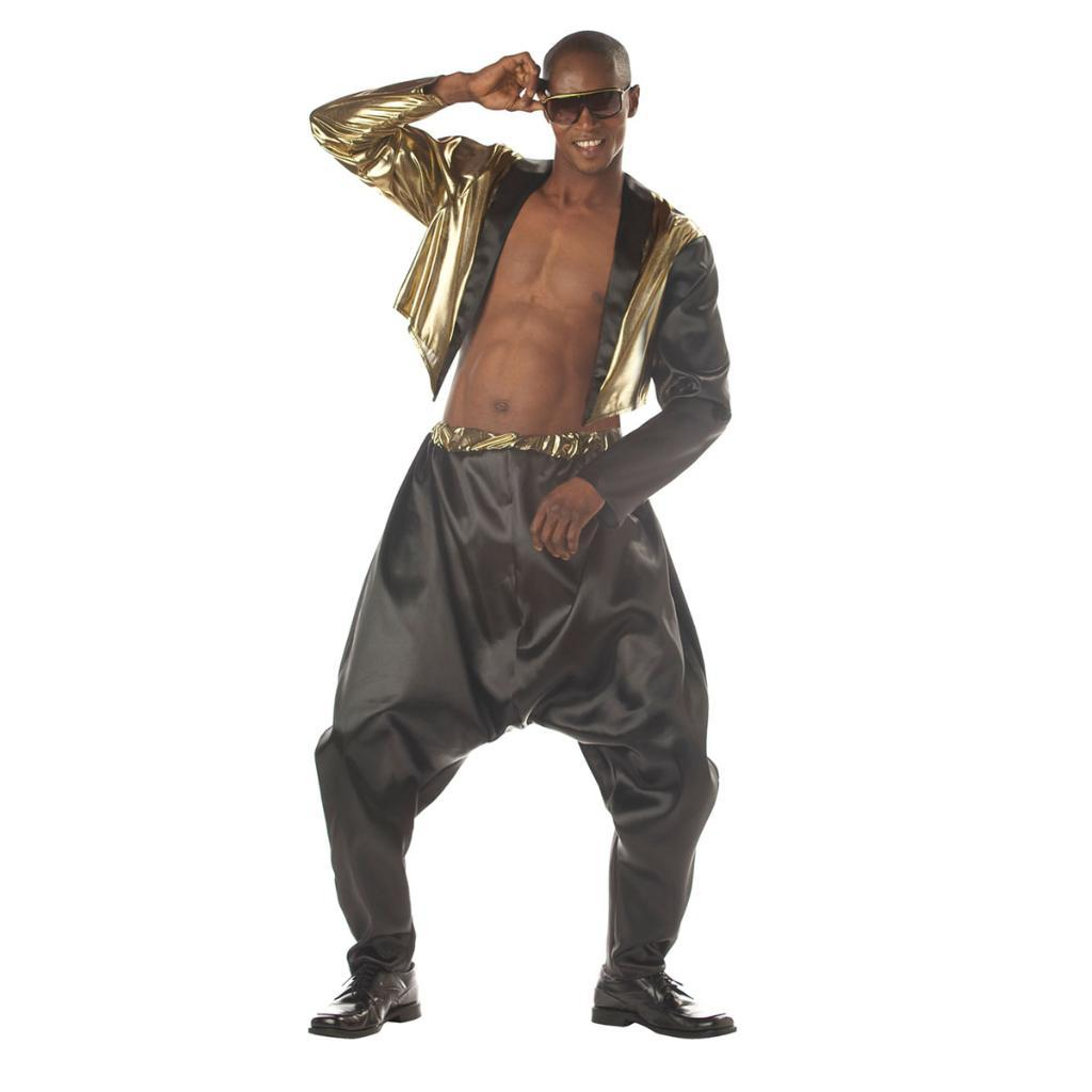 Old School Rapper Adult Costume MC Hammer Vanilla Ice Parachute Pants Mens