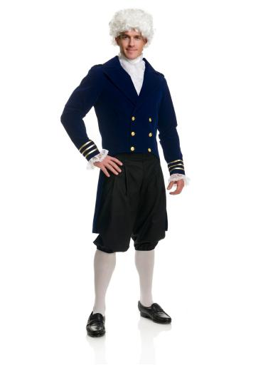 George Washington Costume, Men's Colonial Costume Men L (42-44),Men M (40-42),Men XL (46-48),Men XS, Men S (36-38)