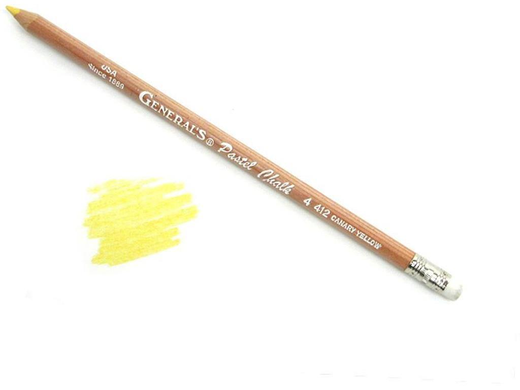 Gen4412 general s pastel chalk pencil bulk canary yellow