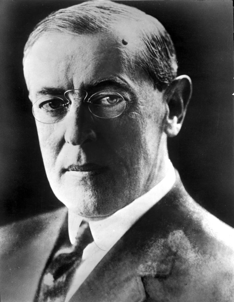 A Portrait Of Woodrow Wilson Photo Print