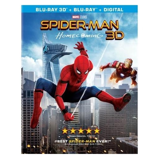 Spiderman-homecoming 3-d (blu ray w/ultraviolet) 3-d 1325917
