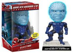 Wacky wobbler: spiderman movie 2-electro (bobblehead)-nla 3975