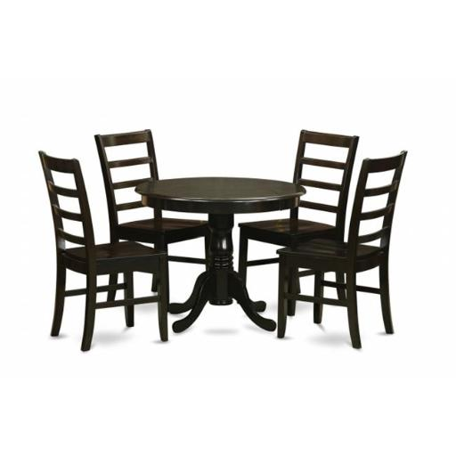 5 Piece Small Kitchen Table Set-Drop Leaf Table Plus 4 Kitchen Dining Chairs