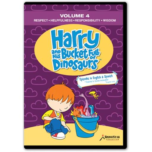 Rising Star Education HBD004 Harry & His Bucket Full of Dinosaurs- Vol. 4 - Respect- Helpfulness- Responsibility- Wisdom- DVD