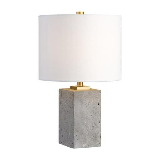 Uttermost 29237-1 Drexel Concrete Block Lamp