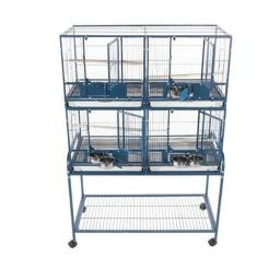 a-e-cages-ae-4020-2p-4-unit-cage-with-stand-platinum-880bd96be0206796
