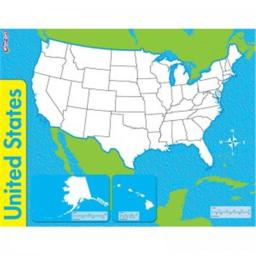 Trend Enterprises T-27301BN 17 x 22 in. The United States Wipe Off Map - 12 Each