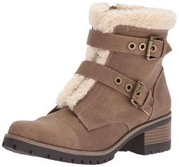 Anne Klein AK Sport Women's Lolly Fashion Boot, Dark Natural Multi Synthetic, 8 M US