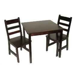 Lipper 514e child's table chair set esprso