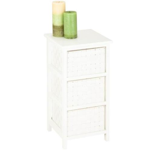 Honey-Can-Do OFC-03717 Storage Chest 3 Drawer, white