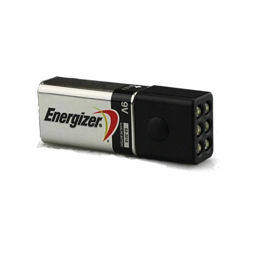 Blocklite 6 LED Mini Flashlight w/Energizer 9 Volt Battery, Surprisingly Bright